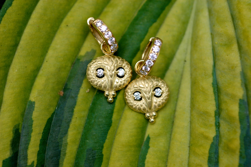 Wise Owl Charm Earrings
