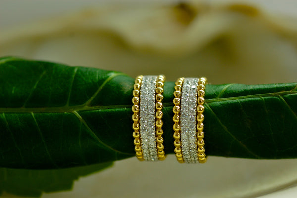 Matching Diamond and Gold Bands