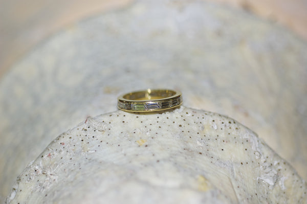 Diamond Baguette Wedding Band