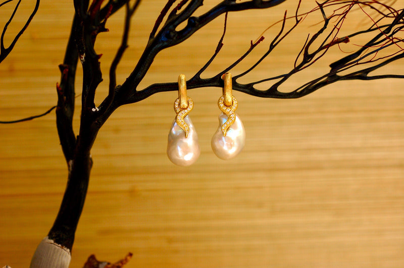 South Sea Natural Pearl Earrings