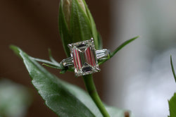 Emerald Cut and Baguette Diamond Ring