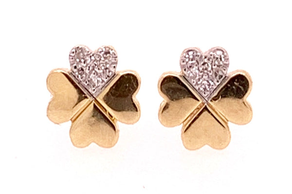 Lucky Four Leaf Clover Studs