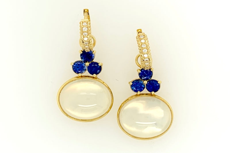 Moonstone and Blue Sapphire Charms