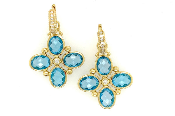 Blue Topaz Charm Earrings