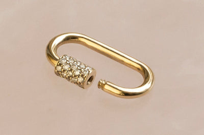 Diamond and Gold Carabiner