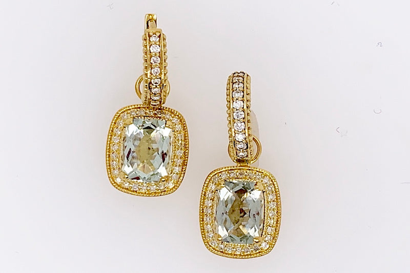Golden-Green Amethyst Charms