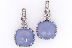 Blue Chalcedony Twist Edge Charms