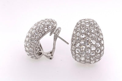 Classic Rose Cut Diamond Earrings