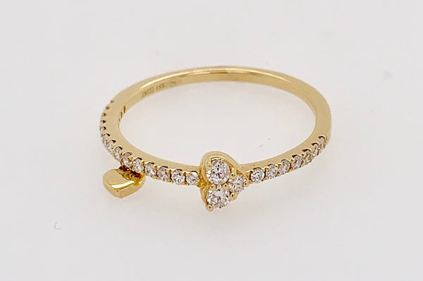 Heart and Charm Diamond Ring