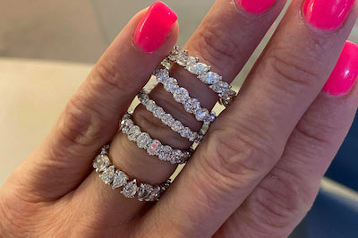 Pear Shape Eternity Band