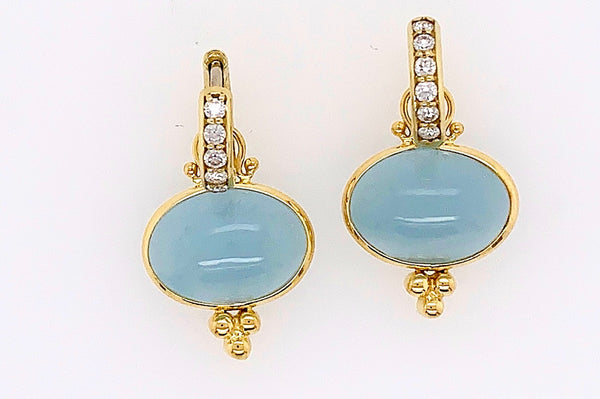 Aquamarine Charm Earrings
