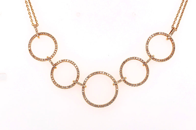 Five Golden Circle Necklace