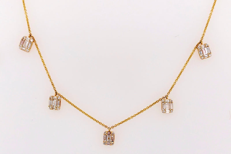Emerald Cut Necklace