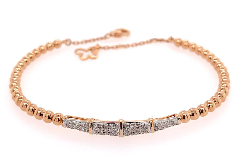Diamond and Gold Bead Bracelet
