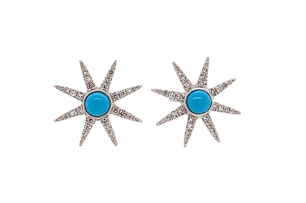 Diamond Starburst with Turquoise Studs