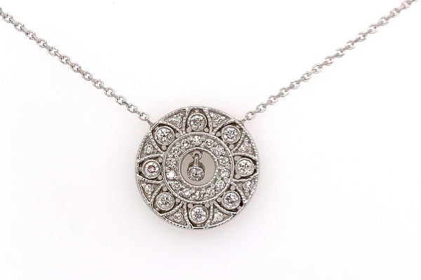 Diamond Antique Circle Necklace
