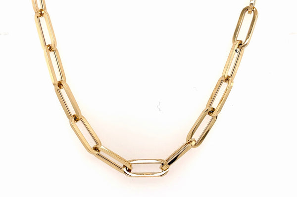 Square Link Paper Clip Necklace