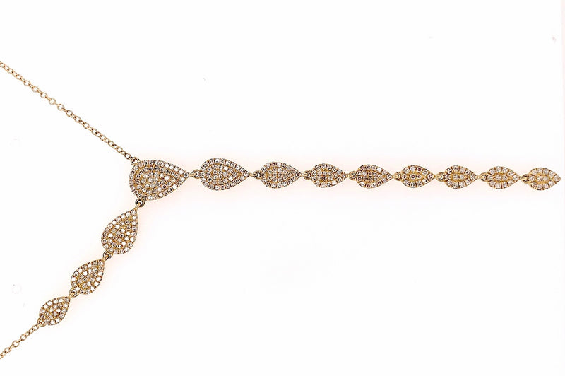 Asymmetrical Pave Diamond Necklace