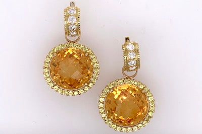 Citrine and Yellow Sapphire Charms