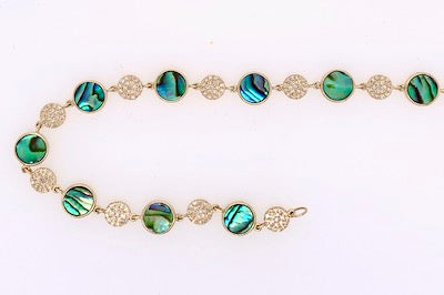 Abalone and Diamond Bracelet