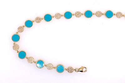 Turquoise and Diamond Bracelet