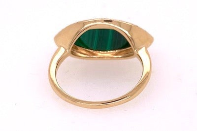 Malachite and Diamond Evil Eye Ring