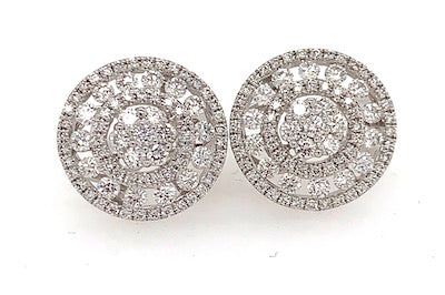 Fabulous Diamond Cluster Earrings