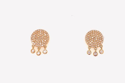 Diamond Pave Studs with a Fringe