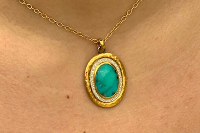 24kt Turquoise Necklace Pendant