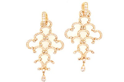 Diamond Chandelier Charm Earrings
