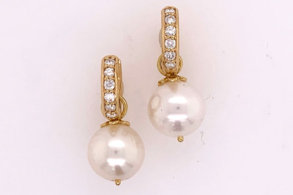 Cultured Pearl Charm Earrings