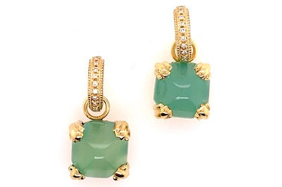 Green Chalcedony Charms