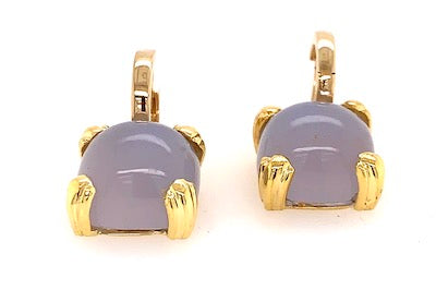 Blue Chalcedony Charms