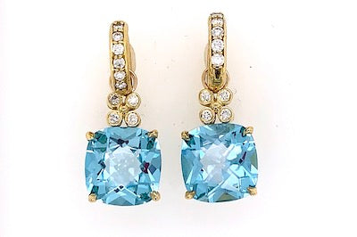 Sky Blue Topaz Charm Earrings