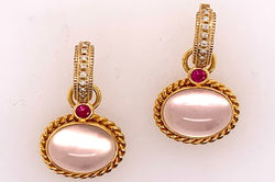 Rose Quartz and Pink Sapphire Charms