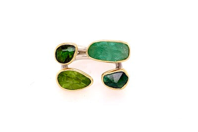 Tourmaline and Peridot Ring