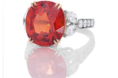 One of a Kind Mandarin Garnet Ring