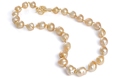 Perfectly Matched Golden South Sea Pearls