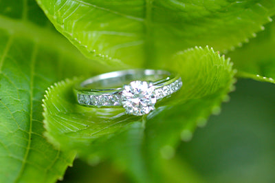 Round Brilliant Engagement Ring with Channel Setting