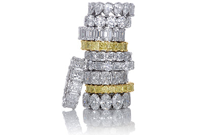 Selection of Diamond Eternity Bands