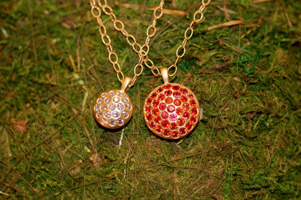 Burnished Diamond and Sapphire Necklaces