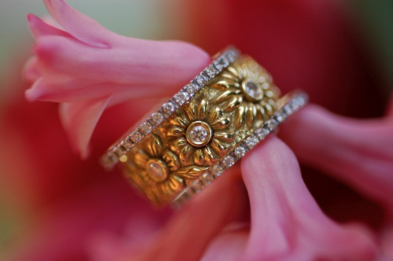 Carved Floral Ring