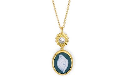 Eye Love Green Agate Necklace