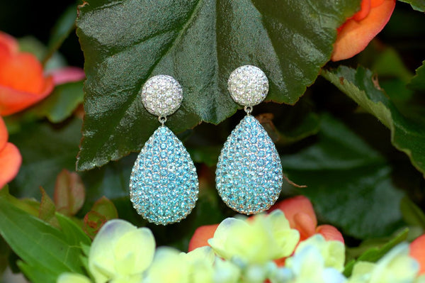Diamond Topaz Pave Earrings