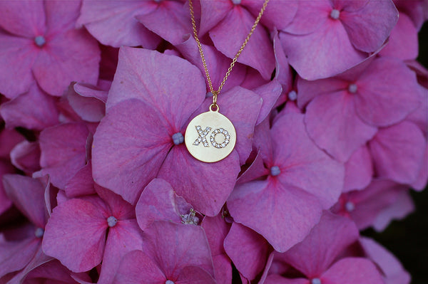 Hugs and Kisses Monogram Necklace