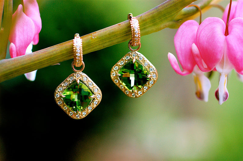 Peridot Charm Earrings