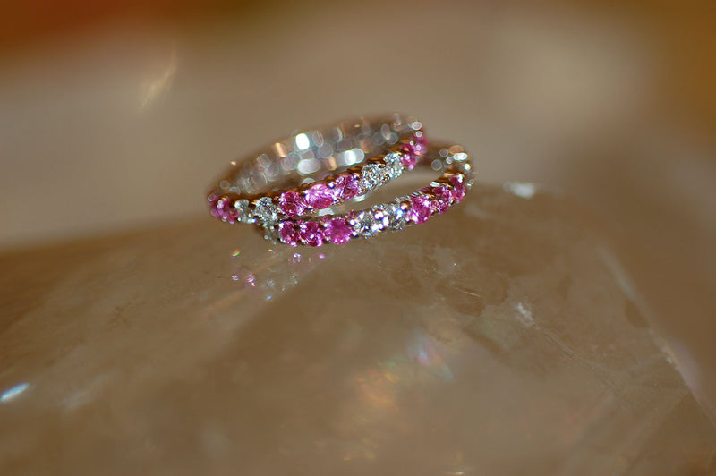 Pink Sapphire Eternity Bands