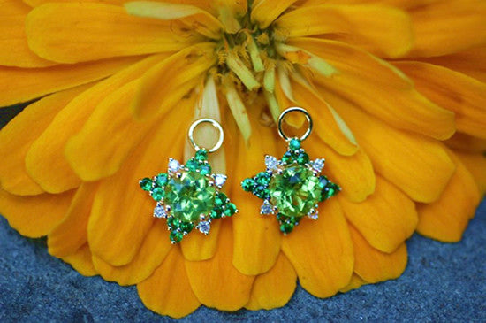 Spanish Peridot Charm Earrings
