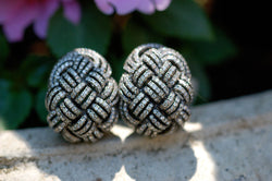 Woven Diamond Earrings