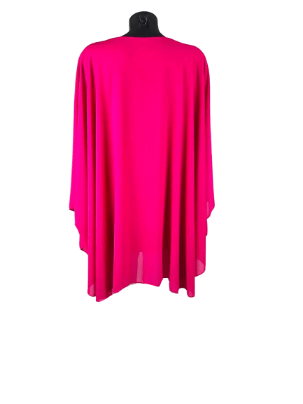 Load image into Gallery viewer, Hot Pink Ladies Top | Womens Chiffon Top | Plus Size Top - mapuchi moda